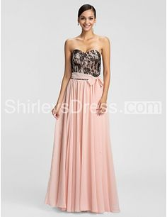 Lace Sleeveless Floor-length Evening Dress with Belt