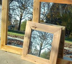 Reclaimed Wood Mirror FREE SHIPPING by BlueRidgeWoodworking, $195.00