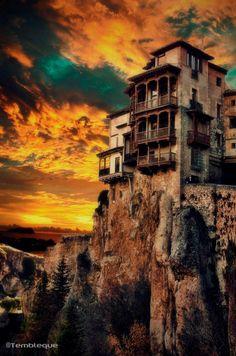 Las casas colgadas de #-Cuenca en Castilla la Mancha #Spain