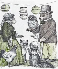 "Maurice Sendak illustration from ""A Kiss for Little Bear"" by Else Holmelund Minarik,"