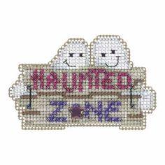 Haunted Zone Beaded Cross Stitch Kit Mill Hill 2015 Autumn Harvest - $5.99