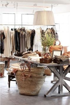 I know this is a store, but I would love to have a closet that looks like this.