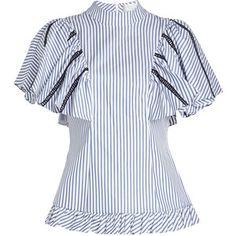 Caroline Constas Striped Cotton Blouse