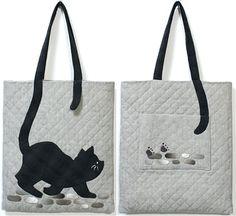 【預購】貝田明美 提袋材料包/庭院裡的貓_貝田明美的手提袋材料包 T系列_貝田明美的材料包_名師特區_小蜜蜂手藝世界 | 麻雀屋手藝工坊 | 就是拼布精品 - Powered by ECShop