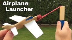How to Make the Simplest Airplane Launcher at Home - Cardboard Glider