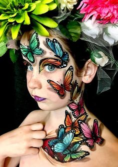 monarch butterfly makeup Eye is part of Monarch Butterfly Makeup Makeup - Butterfly Face Painting Competition Winners announced Butterfly Face Paint, Butterfly Makeup, Butterfly Painting, Butterfly Party, Monarch Butterfly, Face Paint Makeup, Eye Makeup Art, Adult Face Painting, Body Painting
