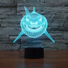 3D Shark Lamp 6 Colors Changing Visual Illusion + FREE Shipping