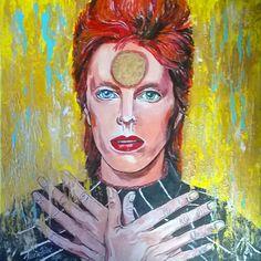 portræt af David Bowie som Ziggy Stardust