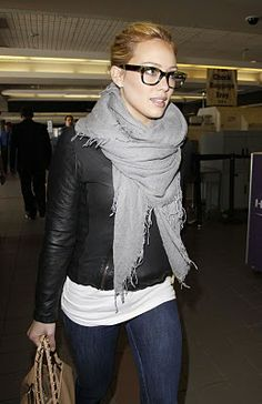 Simple!!! Scarf & leather jacket. My all time favorite look for fall.