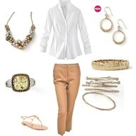 This combo can go natural or dress it up.  Beautiful combo