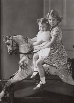 My 2nd favorite photo of the Queen and Princess Margaret as children.