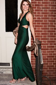Slinky and sassy, this satin sheath gown captivates with a plunging V-neckline and waist cutouts! | #holidaydresses #holidaypartydresses #2020holidaypartydresses | Style D24NY005 | Shop this style and more at davidsbridal.com Holiday Party Dresses, Holiday Parties, New Years Eve Dresses, One Shoulder Gown, Plunge Dress, Stretch Satin, Davids Bridal, Get Dressed, Dress Making