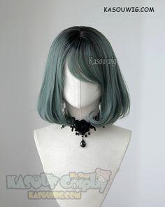 [ Kasou Wig ] cute l [ Kasou Wig ] cute lolita wig Uni- Peacock Green ( BK) Kawaii Hairstyles, Pretty Hairstyles, Wig Hairstyles, Anime Wigs, Anime Hair, Cosplay Hair, Cosplay Wigs, Kawaii Wigs, Pelo Multicolor