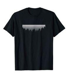 "Forest & Stars ""Good Night"" T-Shirt. Original Pine Tree/Gradient Night Sky Artwork on a comfy & cheap T-Shirt."
