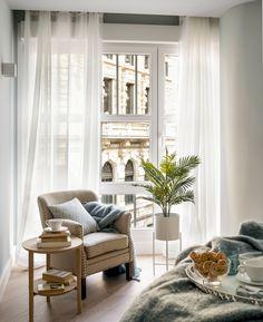 Comprehensive housing reform in Bilbao- Design of living area in bedroom – Interior Design - Bilbao, Decoration Bedroom, Home Decor Bedroom, Master Bedroom, Living Area, Living Rooms, My Dream Home, Living Room Designs, Interior Design