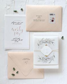 Eucalyptus and Vellum Birthday Party Invitations by Mint for Hue #weddinginvitation