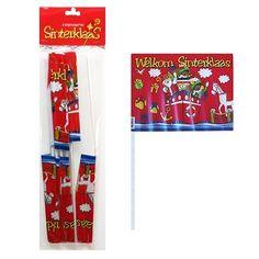 Zwaaivlaggetjes Sinterklaas 6 st.