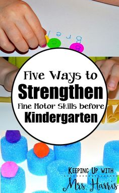 Kindergarten is quickly approaching for two of the Harris grandchildren. My son happens to be one of them. Watch out, KINDERGARTEN! We& been learning our letters, practicing cutting, and even writing our name, but I& noticed that my son& fingers Fine Motor Activities For Kids, Motor Skills Activities, Gross Motor Skills, Therapy Activities, Learning Activities, Physical Activities, Teaching Ideas, Preschool Ideas, Dementia Activities