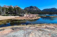 Discover Australia - Honeymoon Bay in Freycinet National Park, Tasmania Australia Honeymoon, Visit Australia, Australia Travel, Queensland Australia, Melbourne Australia, Western Australia, Perth, Cool Places To Visit, Places To Travel