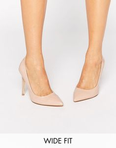 1c83ed0f60c Image 1 of Faith Wide Fit Chloe Nude Pumps Nude Court Shoes