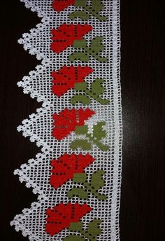 This Pin was discovered by ayş Crochet Curtain Pattern, Crochet Edging Patterns, Filet Crochet Charts, Crochet Curtains, Curtain Patterns, Crochet Borders, Crochet Doilies, Crochet Flowers, Crochet Lace