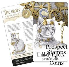 Australian Coins :: Australian Decimal Coins 1966 - 2017 :: 2015 Unlikely Heroes Great and Small - Feline Mascot of the HMAS Encounter One Dollar ($1) Uncirculated Australian Decimal Coin