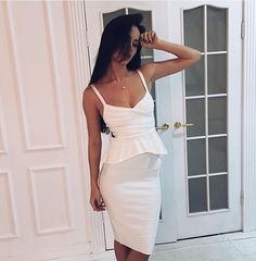 Find More Dresses Information about Wholesale Free shipping Two Piece Luxury Sexy Halter Ruffles Peplum White Bandage Evening Party Dress Black Blue color vestidos,High Quality shipping courier,China dress for age 50 Suppliers, Cheap dresses cute from Ilonaandgrace'  store on Aliexpress.com