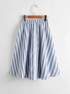 Girls Knotted Front Pocket Patched Striped Skirt – Kidenhouse White Patterns, Printed Skirts, Flare Skirt, Pleated Skirt, Bell Sleeves, Cotton Fabric, Girl Skirts, Patches, Chiffon