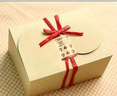 6 x Kraft Brown Box, cookie, cupcake, cake, macaroon Boxes, Bakery Box, Gift Packaging, DIY packaging via Etsy