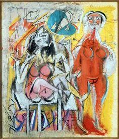 Willem de Kooning: Deux femmes (1947)