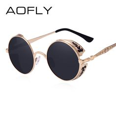 Cheap sunglass red, Buy Quality sunglasses vintage directly from China  sunglasses 2010 Suppliers  AOFLY Steampunk Vintage Sunglass Fashion round  sunglasses ... 402d4e8fa3