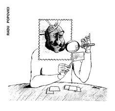 Caricatura de RADU POPOVICI, publicata in almanahul PERPETUUM COMIC '97 editat de URZICA, revista de satira si umor din Romania