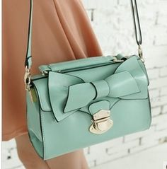 Fashion Cute Bow Belt Shoulder Bag Buckles Bows Messenger Bags