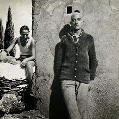 """26-year-old Salvador Dali  "" Salvador Dali in Cadaques, photo used for the frontispice of ""L'Amour et la memoire"", 1930 """