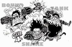 One Piece Gear 4, One Piece Top, One Piece Comic, One Piece Fanart, One Piece Anime, 0ne Piece, Luffy Gear 4, Gurren Laggan, One Piece Tattoos