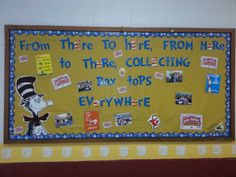 Bruceton School Dr. Seuss/Box Tops bulletin board.