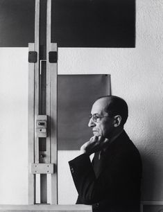 Piet Mondrian, photographed by Arnold Newman in New York, 1942