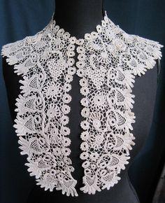 Irish Crochet Collar ◾Date: 1880 -1900 ◾Color: white