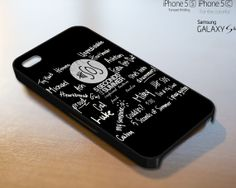 5SOS Signature  iPhone 4 4S iPhone 5 5S 5C and by ProscheDesign, $9.99