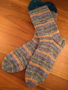 This is a pdf download for a multi-size sock knitting pattern. The socks are knit top down in the round on double pointed needles with plain stockinette stitch. This is a great first sock knitting pattern and it contains lots of hints and tips to get you started.  The pattern Knitting Kits, Knitting Socks, Knitting Patterns, Double Pointed Knitting Needles, Stockinette, Sock Yarn, Stitch Markers, Stockings, Tips