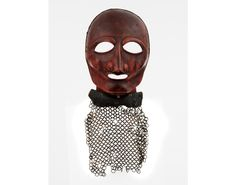 Full -face mask (sōmen); Late Momoyama–early Edo periods, early 17th century; iron, lacquer, leather. The Ann & Gabriel Barbier-Mueller Museum, Dallas.