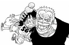 Luffy and Garp