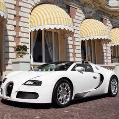 All white Bugatti Veyron
