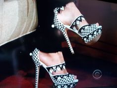 Diane Kruger's awesome heels from when she was on The Late Late Show with Craig Ferguson.