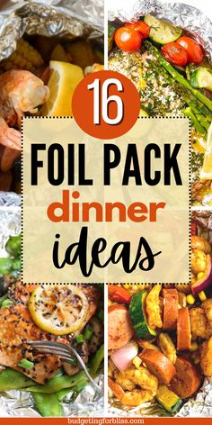 Frugal Recipes, Cooking Recipes, Healthy Recipes, Foil Pack Dinners, Easy Dinners, Easy Family Meals, One Pot Meals, Grilled Recipes, Camping Foods