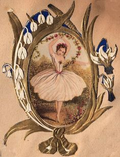 Free Clip Art: Victorian Ballerina - The Graphics Fairy
