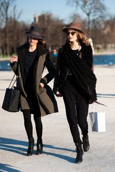 Looks like to chic pals in Paris. Maybe?