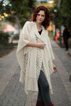 100% alpaca ruana cloak, 'Vanilla Spice' - Ivory Artistwoven Alpaca  188.00 - novica. Wool Ruana Cloak Wrap