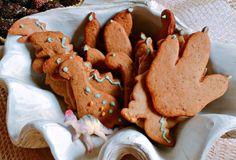 Biscoitos de gengibre com formato de dinossauro