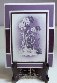 handcrafted card ... shadowed silhouette ... flowers ... beautiful card ... Stampin' Up!